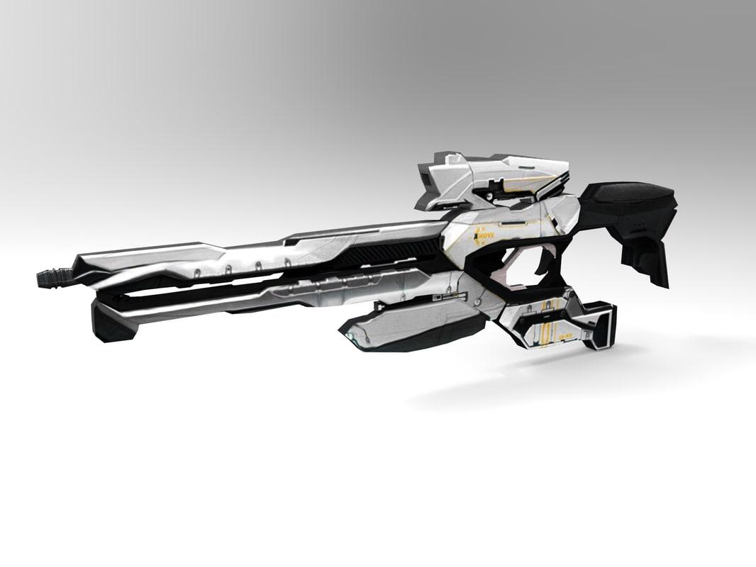 3d model futuristic weapons