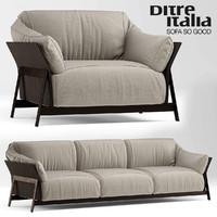 3d model sofa armchair ditre