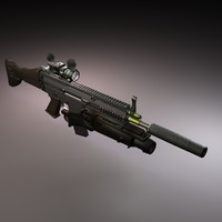 3ds max fn scar-l scar assault rifle