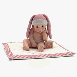 3d model of baby s