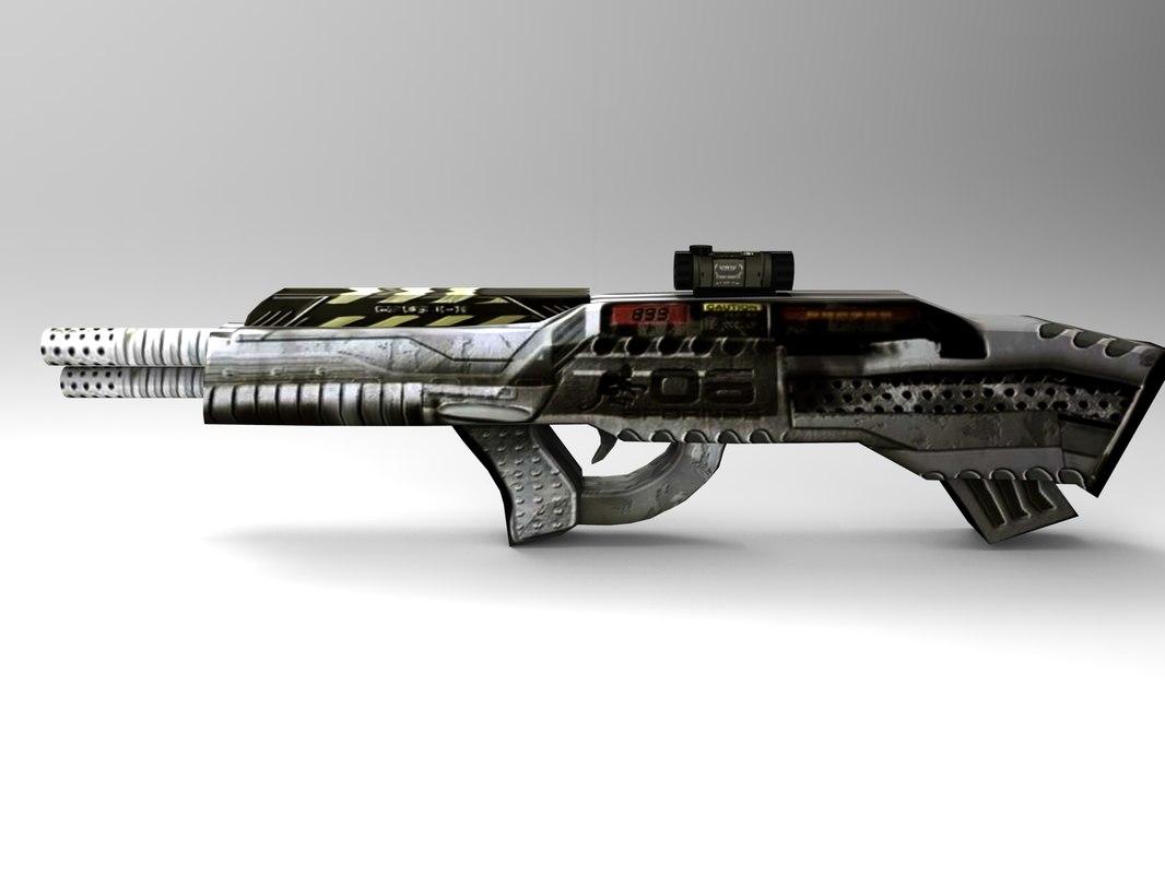 3d obj gun