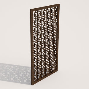 3d asian style partition model