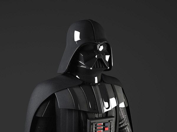 star wars rigged 3d model