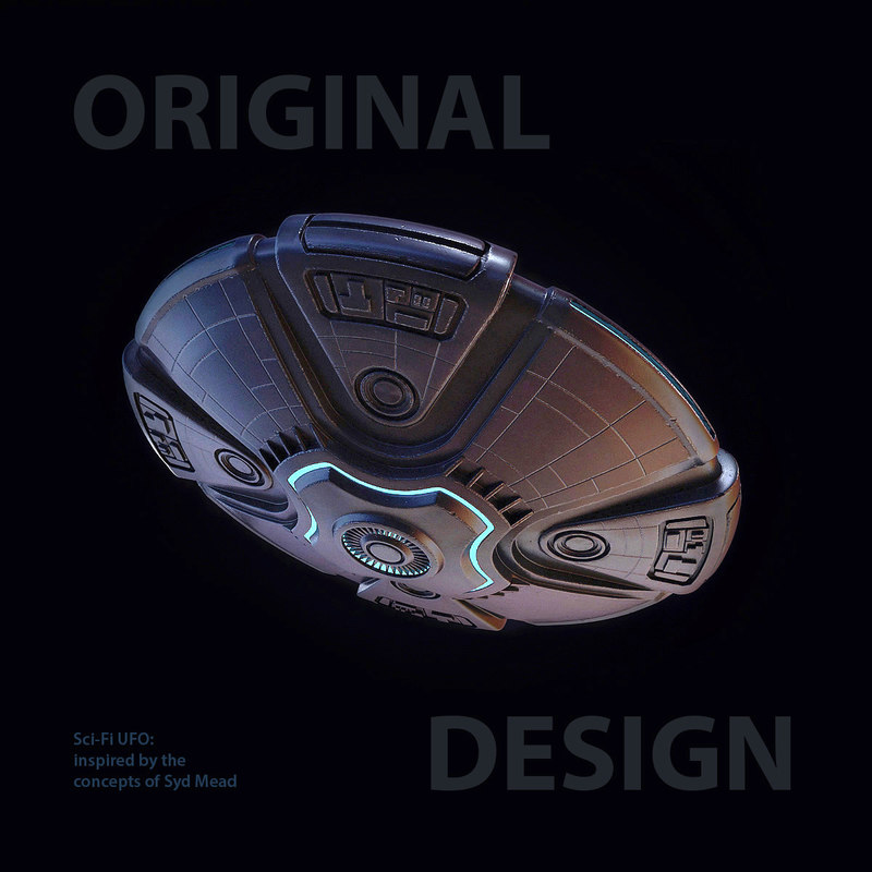 sci-fi ufo 3d model