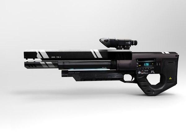 3d model modern gun