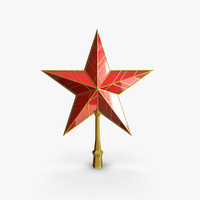 3d happy new year star model