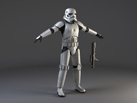 Star Wars Storm Trooper Rigged