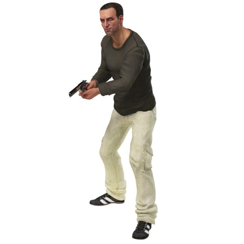 rigged boy 3d model