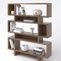 houzz bookcases 3d obj