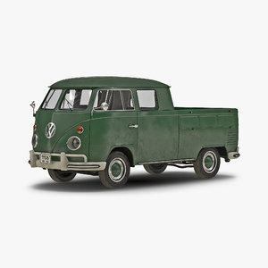 volkswagen type 2 double 3d 3ds