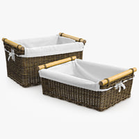 Wicker Basket Rattan 3