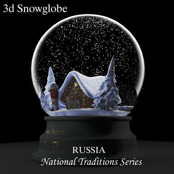 3d max house snow
