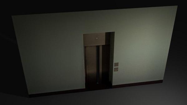 lift door asset 3d obj
