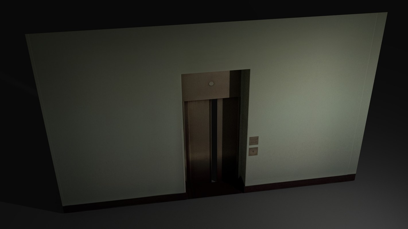 lift door asset 3d obj