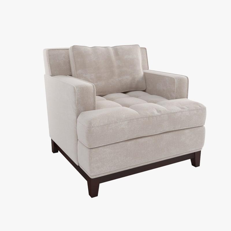 3d chair bolier model