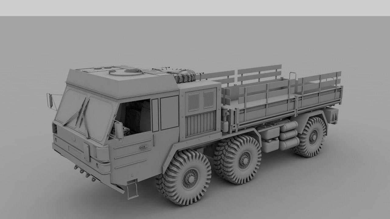 transporter truck 3d model
