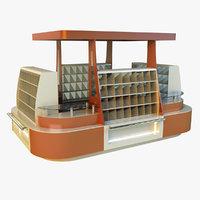 pavilion trade 3d model