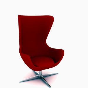 design egg arne chair furniture 3d max