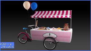 3d model sweets cart