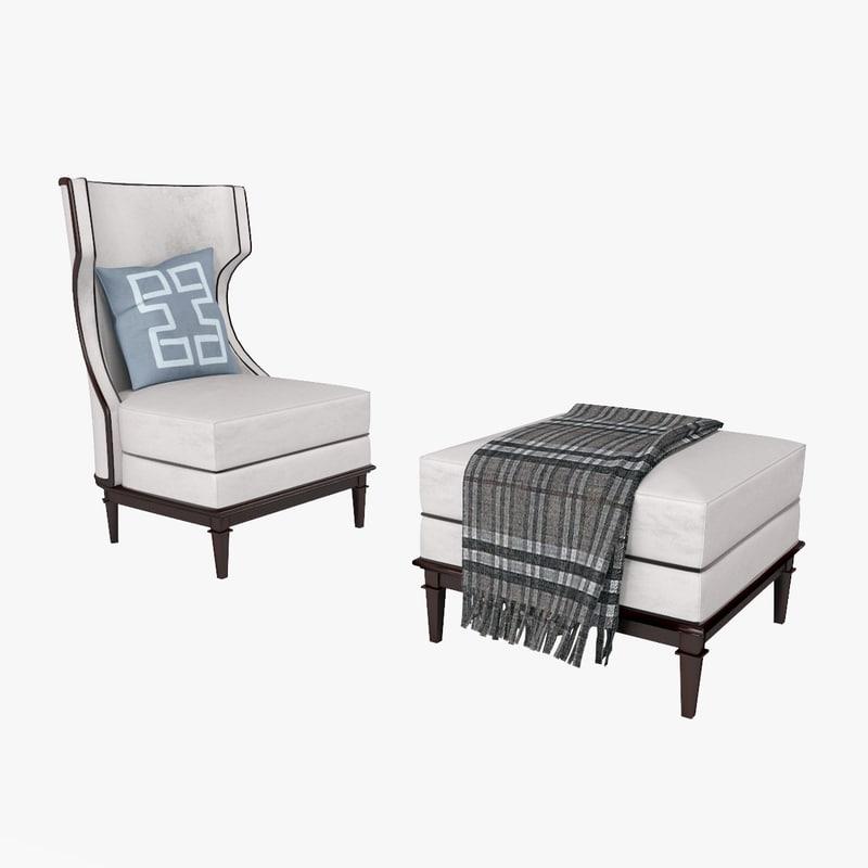 chair bolier modern 3d max
