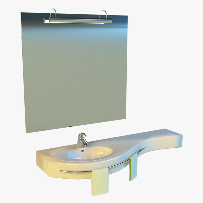 3d model washbasin basin