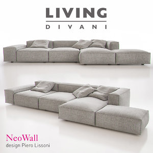 3d living divani - neowall model