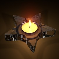tealight candle 3d c4d
