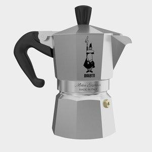3d model bialetti moka espresso coffee machine