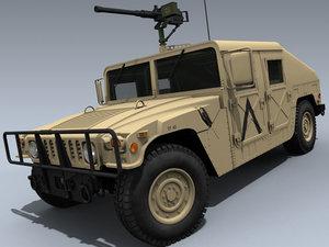 army humvee 3d obj