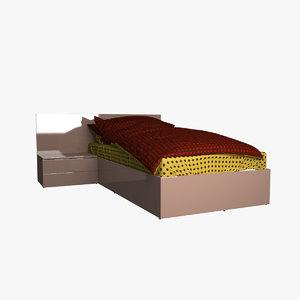 v-ray bed pillow 3d max