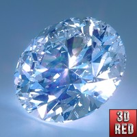 3d model cut diamond