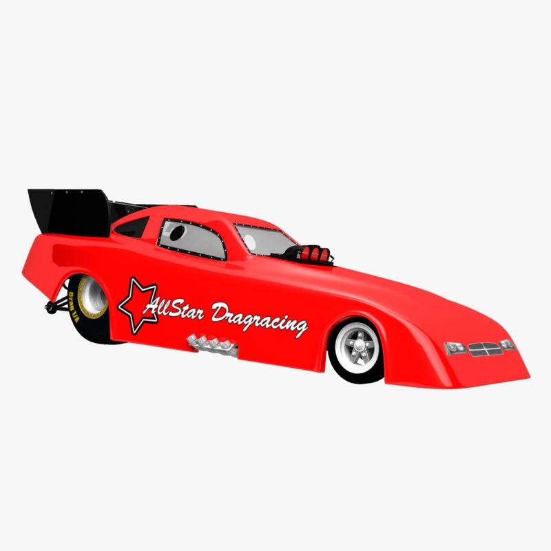 3d model funny car