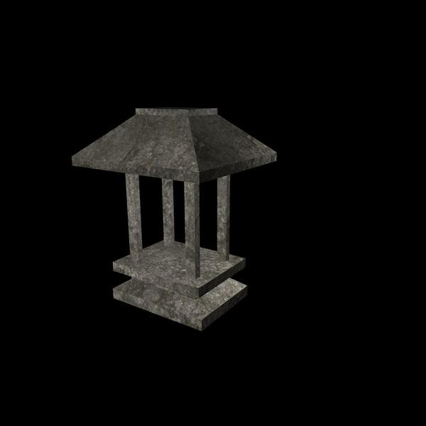 japonese altar 3d model