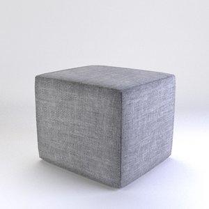 square pouffe 3d model
