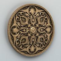 carved rosette 3d model