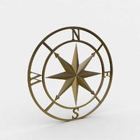 compass rose 3d max