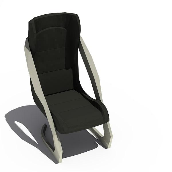 3d model twin chair office