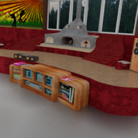 3d stage props model