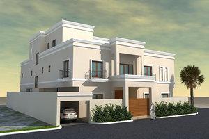 3d model 2 villa -