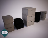 3d boxes interior set model
