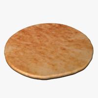 3d model pita bread