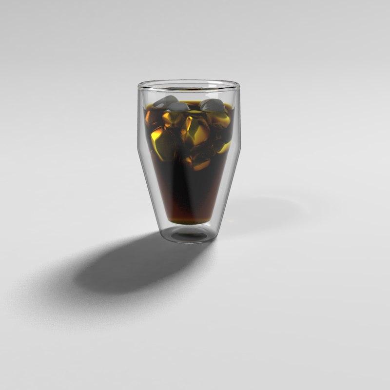soda glass double walls fbx