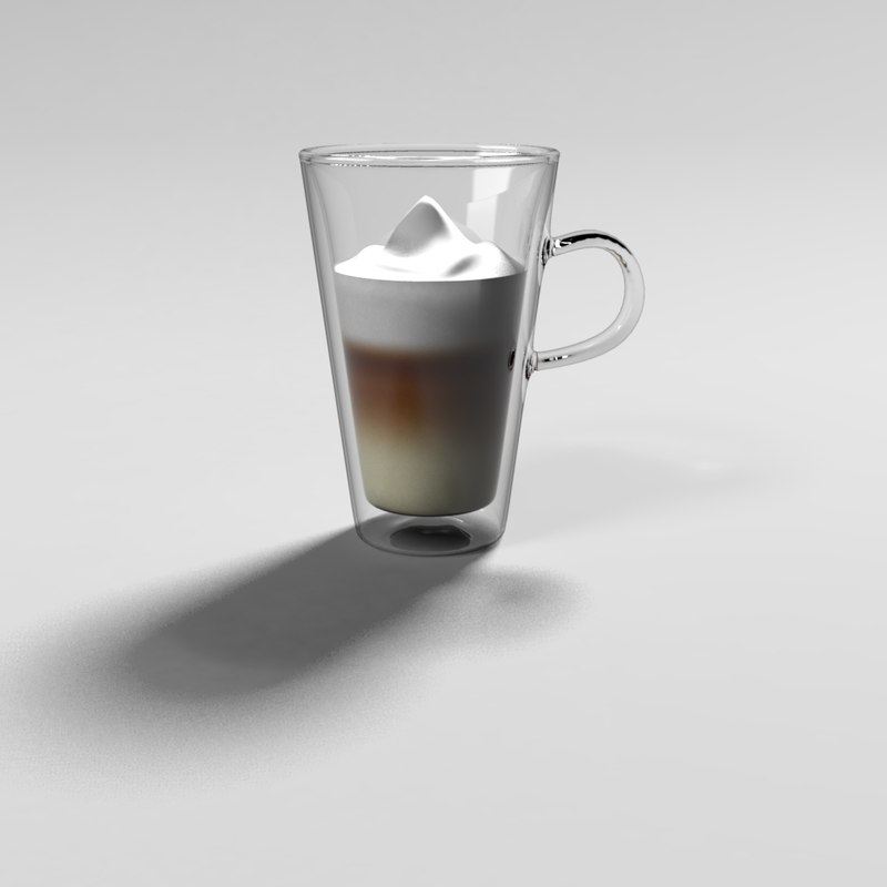3d tall mug double walls model