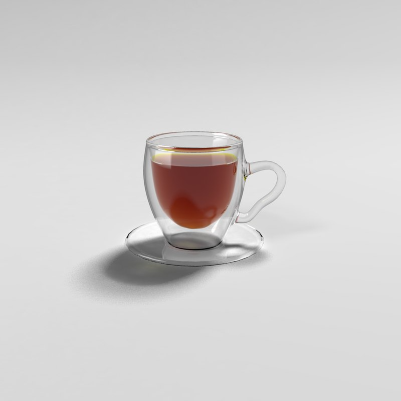 tea cup double walls 3d model