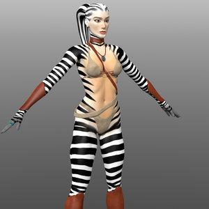 fantasy clothing warrior woman 3d model