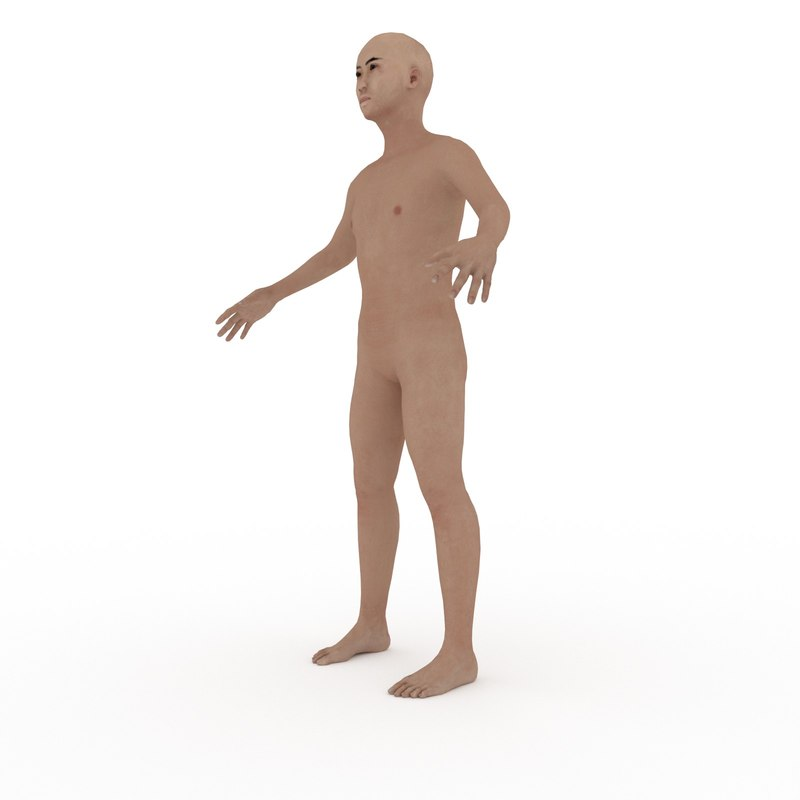 adult asian male fk-ik 3d model