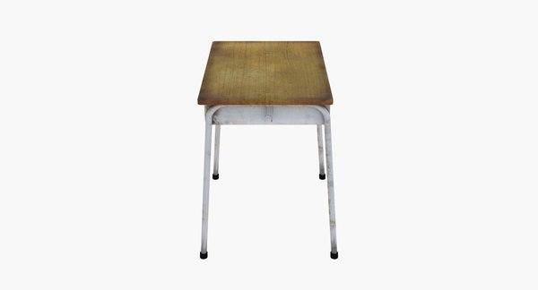3d classroom desk model