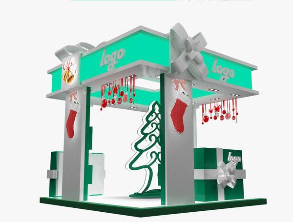 christmas kiosk booth max
