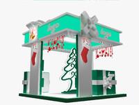 christmas kiosk booth