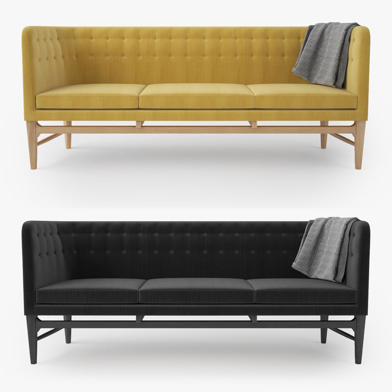 mayor sofa arne jacobsen 3d max